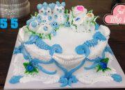 cake decorate blue amazing-bear baby – bánh sinh nhật thú mini gấu con (255)