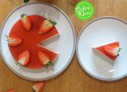 Cách làm bánh mousse dâu tây- Strawberry mousse cake recipe